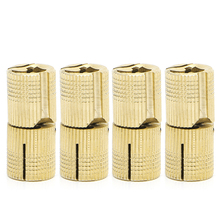 4 Pcs 14mm Brass Barrel Cabinet Cylindrical Hidden Concealed Invisible Hinge  t15