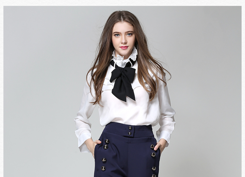 Long Sleeve Office Ladies Women Shirts (27)