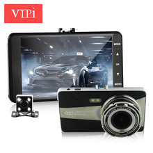 dual lens car camera auto dvr camcorder cars dvrs carcam dash cam Full HD 1080P parking recorder video registrator 4.0 inch