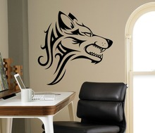Super Cool Angry Wolf Wall sticker Art Decal Imaginative Vinyl Decal Eye-catching Home Decorations Wall Sticker(China)