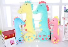 50cm creative cartoon sleep sea horse plush toy sea horse stuffed animal doll, baby soft toy sleeping pillow children's day