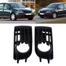 Car Lower Racing Grills Auto Car Front Bumper Cover For VW Golf MK5 2004-2009 Fog Light Hole Right &Left 1Pair ABS Side Grille(China)
