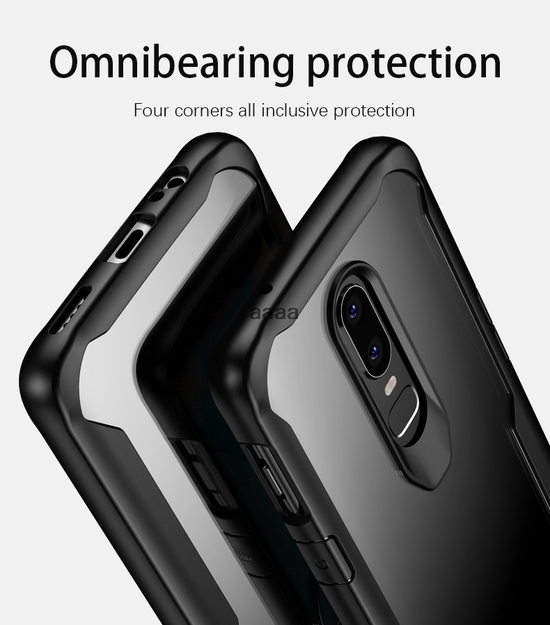 Anti-knock Soft TPU Case For Oneplus 6T Luxury Clear Back Phone Cover For OnePlus6T A6013 Silicone Shockproof Slim Shell Cover