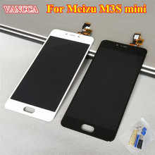 High Quality New MEIZU Digitizer Touch Screen + LCD Display Assembly For Meizu M3S mini Meilan 3S Black / White Color