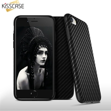 KISSCASE Case For iPhone 6 6s 7 7 Plus Phone Cases Carbon Fiber Hybrid Soft Phone Cover For iPhone Cool Wave Pattern Capa Fundas(China)
