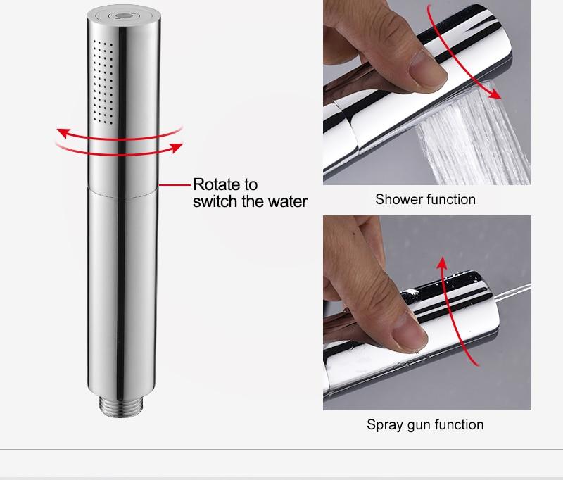hm With Switch Hand Shower Head Brass Pressure Rain&Pulse Spray Gun Super Supercharged Bathroom Detachable Washable Shower Head (8)