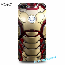 SCOZOS Iron Man Gold Armor Logo cell phone case cover for iphone X 8 8 plus 4 4s 5 5s 5c SE 6 6s & 6 plus 6s plus 7 7 plus &ss44(China)