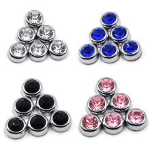 6Pcs Crystal Car Styling stickers Diamond Bling Cover Sticker DIY Rhinestones Adhesive Phones Laptops Decoration Accessories