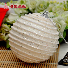 Christmas Tree Hanging Striped Balls Diameter 8cm Upscale Decorations Ball Xmas New Year Home Party Wedding Ornament(China)