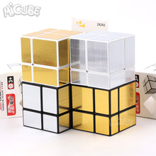 Micube ShengShou 2x2x2 Mirro Cubes Blocks Silver Golden Cast Coated Shiny Magic Cube Puzzle Brain IQ Educational Toy(China)