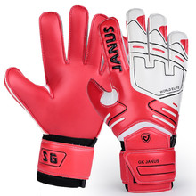 JANUS EVA Latex professional goalkeeper gloves kids men soft soccer football gloves Anti-slip finger guard goalie sports safety