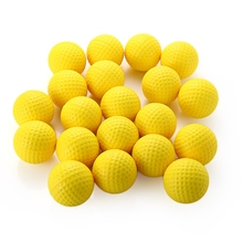 20pcs PU Foamed Golf Ball Light Indoor Outdoor Training Practice Golf Sports Elastic Balls Bright Color(China)