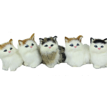 Big Lovely Simulation Cat plush stuffed toy with sound 2016 New Cute soft Simulation animal doll plush sleeping cats figures toy