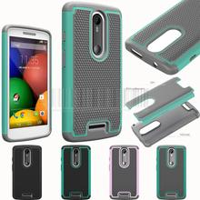 For Motorola Moto X force/Droid Turbo 2 5.43 inch Dual Layer Shock Proof Rugged Armor Heavy Duty Impact Rubber Hard Case Cover