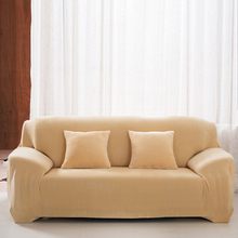 Thicken Plush Sofa Cover Solid Colour Chair Loveseat Couch Cover Washable Home Office Hotel Sofa Chair Slipcover Decoration