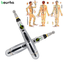 Beurha New Electronic Acupuncture Pen Pain Relief Therapy Pen Safe Meridian Energy Heal Massage Body Head Neck Leg Massageadores(China)