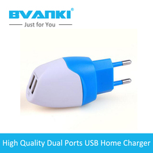 [Bvanki] china supplier Portable multi port USB home charger 2 USB port mobile phone charger 5V 3A output home charger