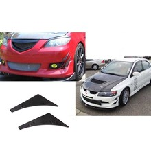 Car Black Universal Fit Front Bumper Splitter Fins Body Spoiler Canards Valence Chin New Arrived Automotive Accessories