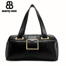 BARHEE Famous Brand Women Long Handbag PU Leather Shoulder Bag Design European Fashion Boston Tote Hand Bag for Elegant Ladies