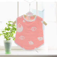 Baby Cotton Overclothes Kids Feeding Bib Children 6 layers muslin Cute Thick Soft Safe Anti Dirty Clothing Infant Baby Bandana(China)