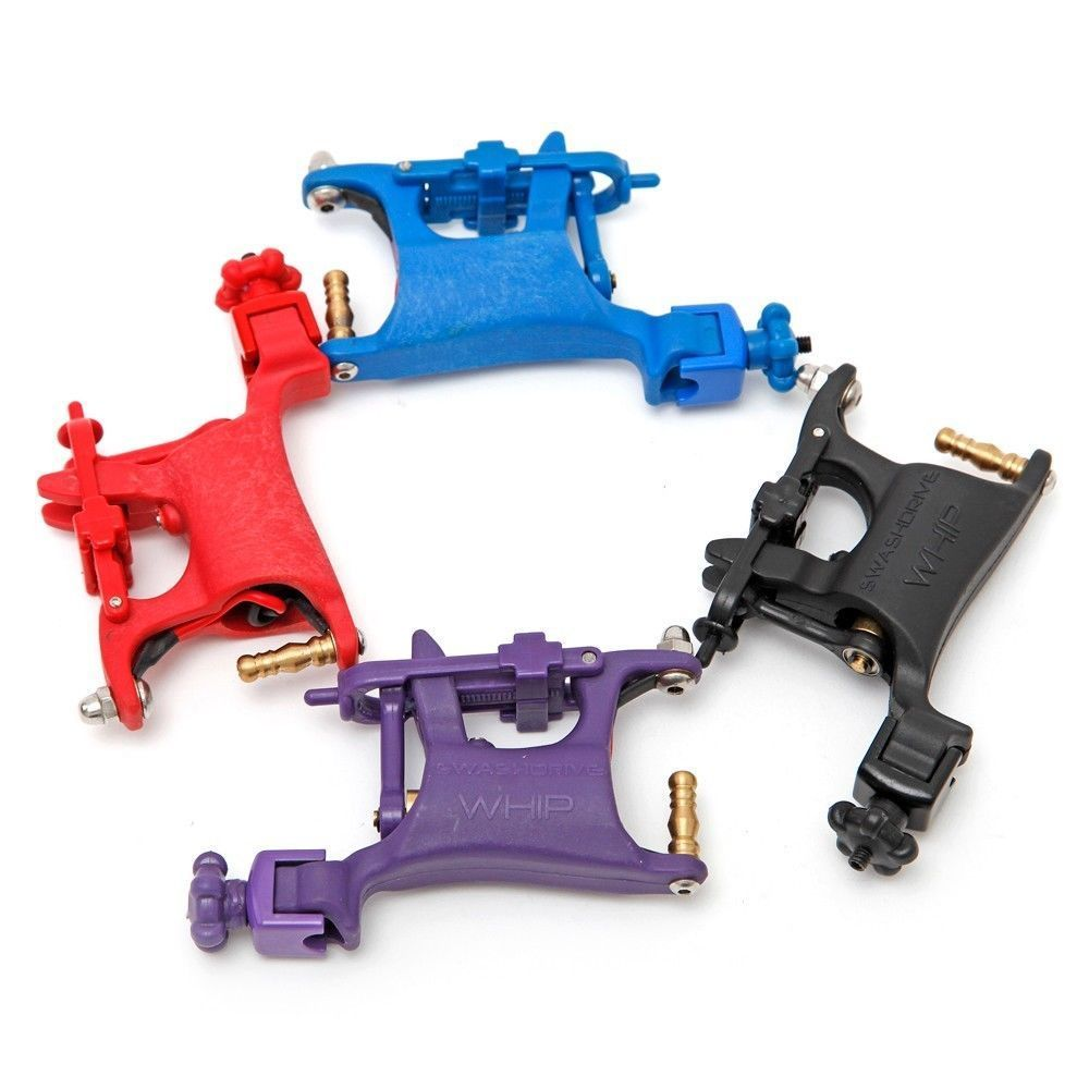 4 pcs Liner Shader Tattoo Rotary Motor Gun Machine Kit Set Swashdrive<br>