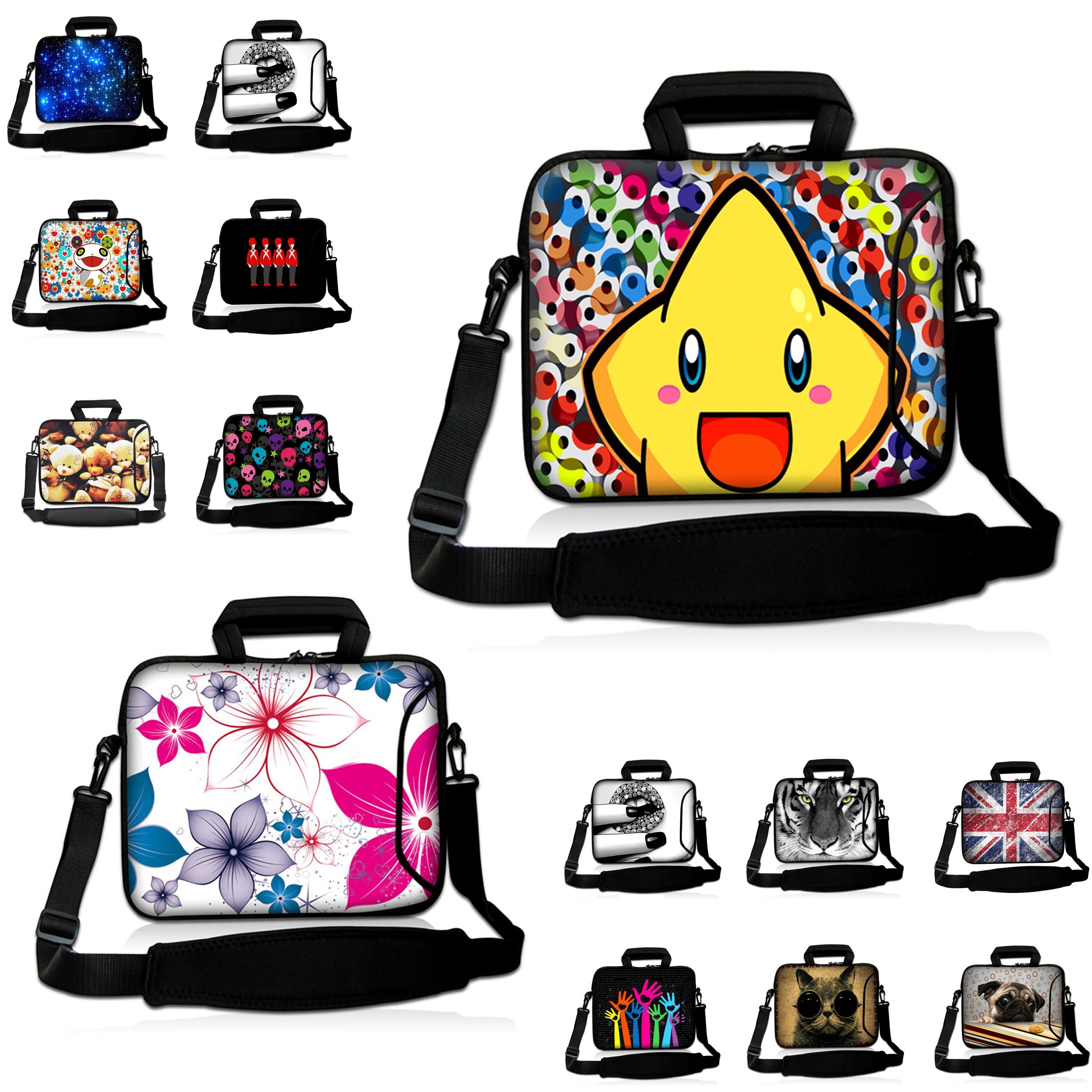 Kids Tablet 10 12 13 14 15 17 Laptop Messenger Carry Bag Neoprene Shockproof Handle Cases W. Shoulder Strap +Extra Zipper Pocket<br><br>Aliexpress