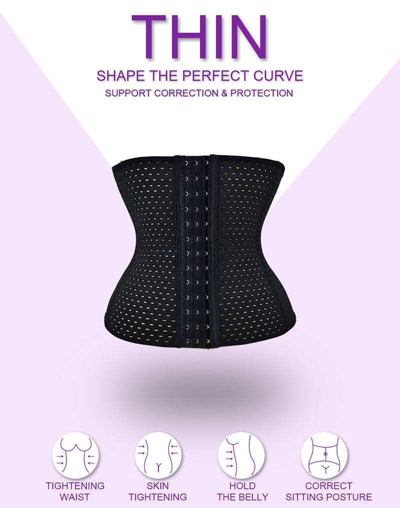 S-6XL Hot Body Shapers Steel Bones Latex Waist Trainer Women High Waist Cincher Trainer Corset Underbust Slimming Belt Shaper 3