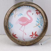 Flamingo Retro Door Dresser Drawer Cabinet Cupboard Pull Knob Handle Home Living Room Cabinet Decorations Furniture Hardware(China)