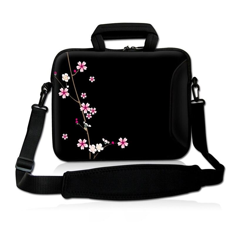 Pink Flower Laptop Carry Sleeve Case Bag Cover w/ Shoulder Strap,Outside Handle  For 9.7 10 10.1 10.2 inch Laptop Tablet<br><br>Aliexpress