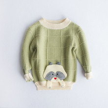 Baby Boy Knit Sweaters 2017 New Autumn Crochet Pullover Tops Long Sleeves Toddler Kids Sweater Animals Pattern Knitwear