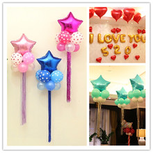 45cm Multicolor Heart Shape Aluminum Foil Balloons Helium Balloon Inflatable Air Balls Wedding Decoration 7zSH035-18(China)