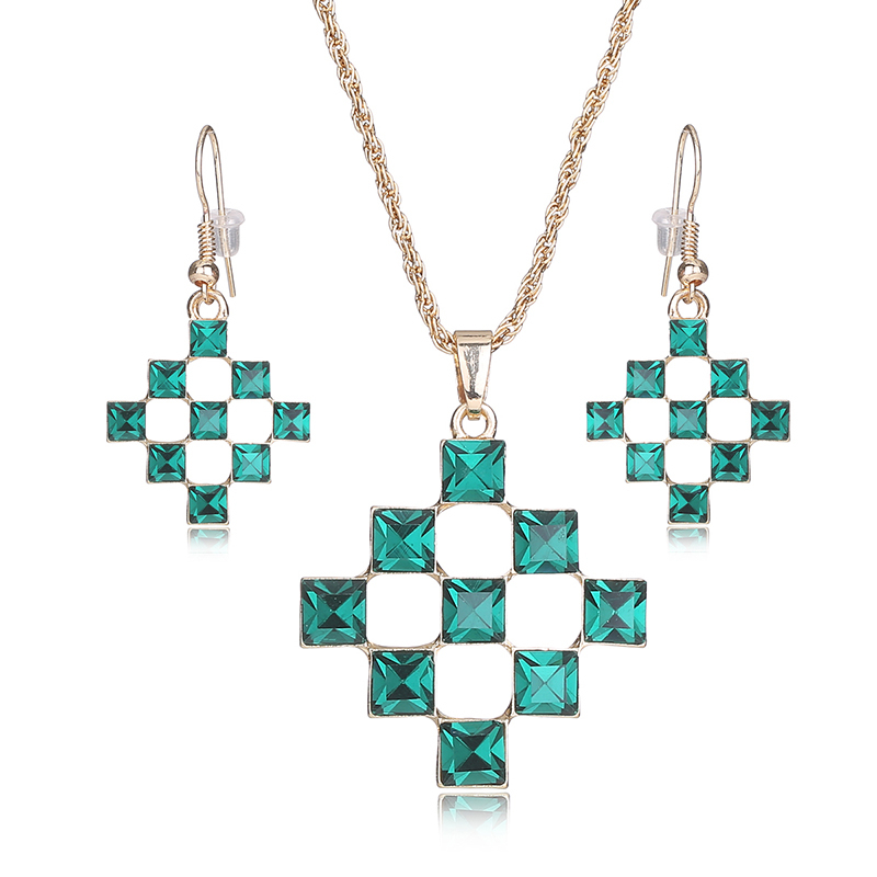 AYAYOO Indian Bridal Jewelry Sets Crystal Gold Color African Beads Jewelry Set Nigerian Wedding Womens Fashion Jewellery (1)