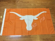 Texas Longhorn flag pennant NCAA banner 100D digital printing free shipping Custom flag 3X5FT OR 2X3FT two size can choose(China)