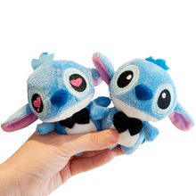 2pcs/pair Kawaii 11*7CM LOVERS LILO and Stitch Plush Stuffed TOY Phone Charm Strap BAG Key Chain Pendant TOY Wedding Bouquet TOY(China)