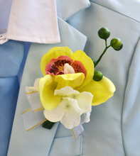 Artificial flower wedding flower groom corsages orchid multicolor(China)