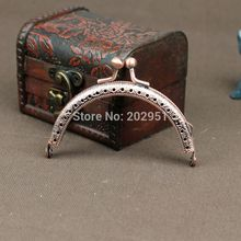 8.5cm Vintage Antique Red Bronze Square Metal Purse Frame Metal Purse Coin Frames Clasp Clutch Purse Frame,20Pcs/Lot