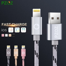 PZOZ For iPhone 7 Cable Fast Charger Adapter 8 Pin USB Cable For iPhone 6 6S Plus 5 5S SE iPad 2017 Air 2 Mobile Phone Cables