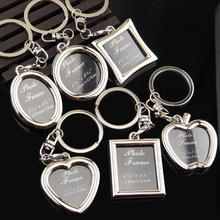 suti New Fashion Creative Photo Frame Key Chain Personality Lover's Car Cellphone Keychain Key Rings Love Souvenir Pendants