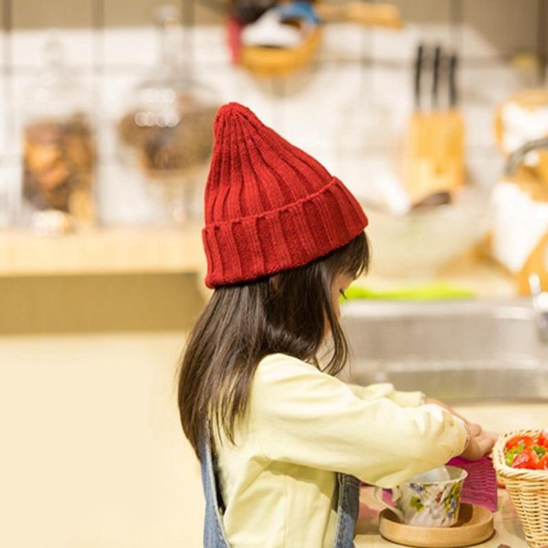 Knitted Kids Beanie Cap Infant Newborn Baby Boy Girl Hat Warm Childrenx Baby Autumn Winter Girls Hat For Kids Toddler Bonnet Cap 3
