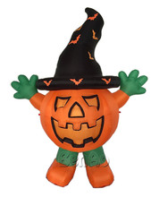 AC234  Free shipping 2.8m Inflatable hallowmas pumpkin in all saint's day/inflatable standing big orange pumpkin dool with hat