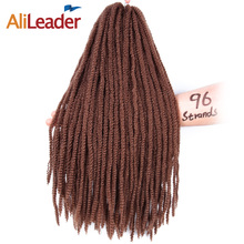 Alileader 16 Inch Middle Size Marley Braid Hair Style Synthetic Braiding Hair Black Brown Blonde Red Crochet Braids 96Roots/Pack