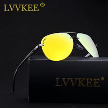 LVVKEE Brand Aluminum Magnesium HD Polarized Sunglasses Men's Driver Mirror Sun glasses Female Polaroid Lens UV400 Eyewear