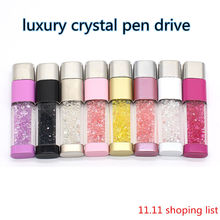 Diamond flash drive real capacity high speed u disk New arrival Crystal usb flash drive 4GB 8GB 16GB 32GB USB 2.0 Memory Stick(China)