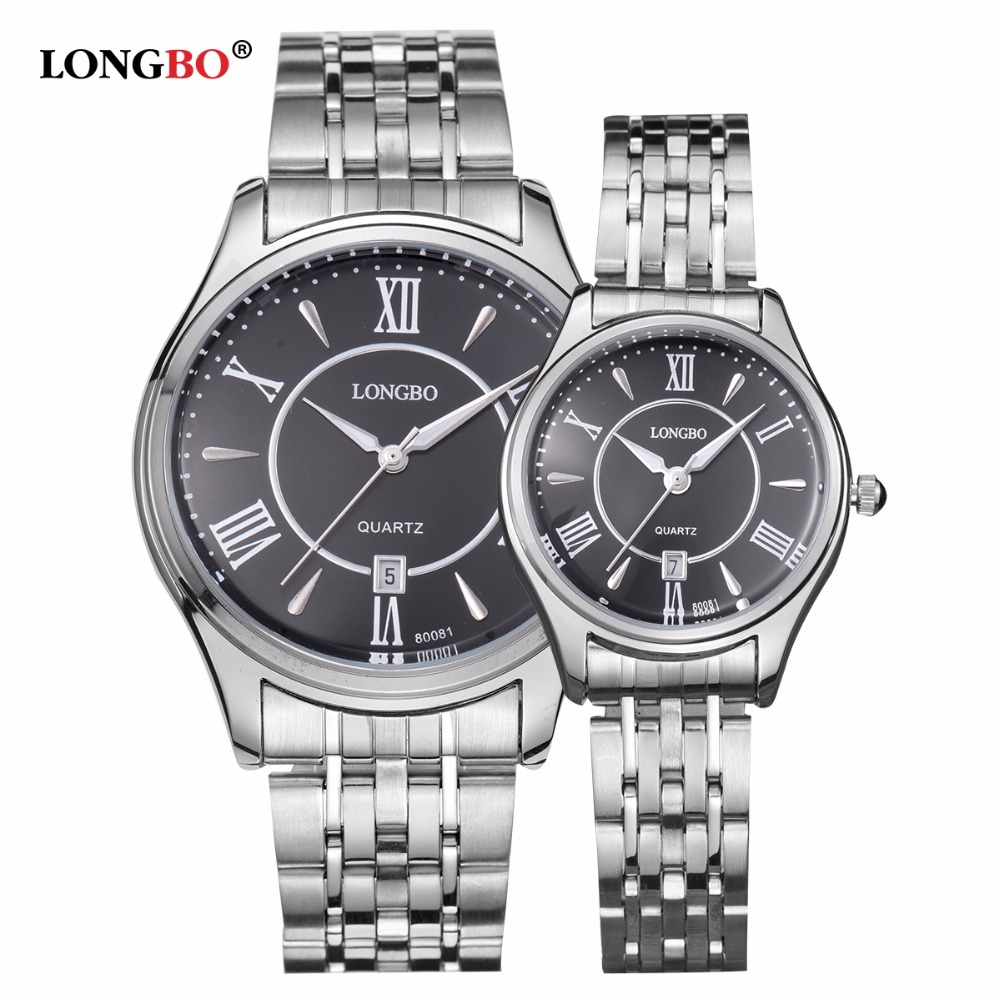 2017 Fashion Brand Ultra Thin Business Lovers Watch Men Black Gold Wristwatch Waterproof Couple Watches Women LONGBO 80081 Reloj<br><br>Aliexpress