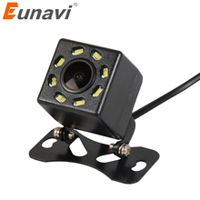Eunavi 8 LED Night Vision Car Rear View Camera Universal Backup Parking Camera Waterproof 170 Wide Angle HD Color Image(China)