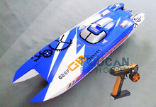 "50"" G30F 30CC Engine Fiber Glass Gas RC Boats Catamaran 70Km/h RC Boats Radio Sys Servos ARTR-RC BU"