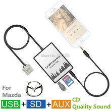 USB SD AUX Car Mp3 Adapter CD change for Mazda 2/3/5/6/CX7/MX5/MPV/Miata/Tribute/RX8 interface