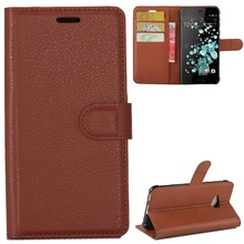 YINGHUI Flip Leather Phone Case For Htc U Play Cover Cases Lichi Skin Wallet Holster Bag For HTC U Play Protective Part