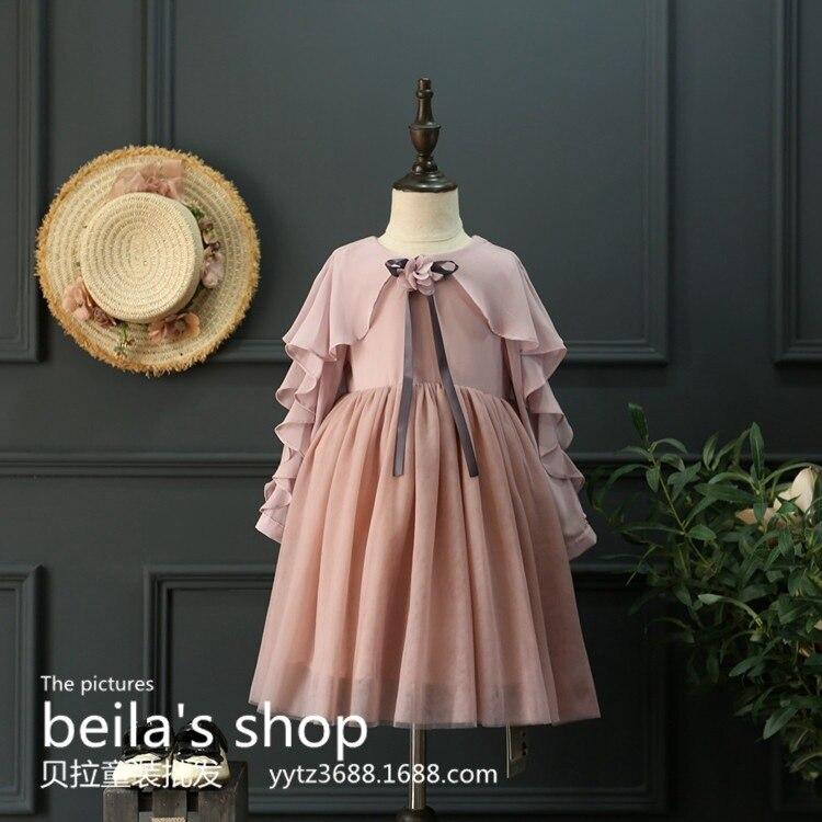 2017 new spring girl Chiffon falbala small princess dress princess dress  sleeve free shipping<br><br>Aliexpress