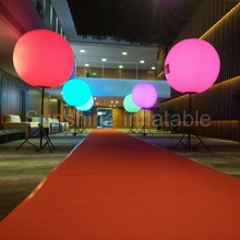 Popular outdoor advertising tripod inflatable balloon with stand pole inflatable stand balloon with colorful led lights